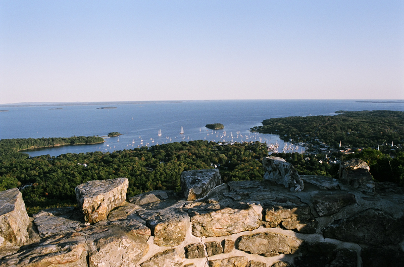 A view from the top of the turret on Mount Battie