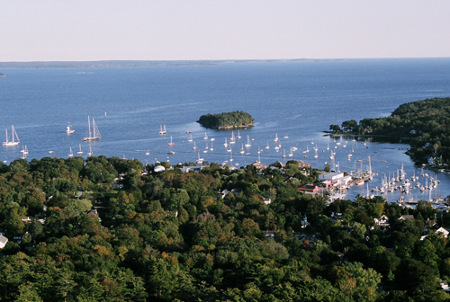 Camden Harbor Views From Turret Atop Mount Battie