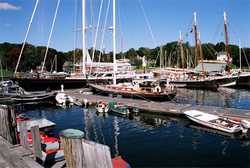 Beautiful Yachts In The Harbor