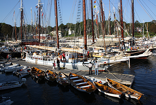 Schooners in Camden Harbor